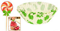 Набор праздничный бумажный (формочки для кексов+шпажки) 25шт/уп 10.5см