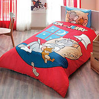 Детское подростковое постельное белье TAC Disney Tom and Jerry Good Night Ранфорс
