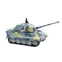 Танк микро р/у 1:72 King Tiger со звуком (серый, 49MHz) (код 191-379475)