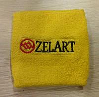 Желтый качественный напульсник на руку от Zelart.