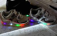 Кроссовки для девочки с led подсветкой (Венгрия)Размеры 19-29