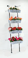 Подставка для цветов Лестница 4 Кантри., фото 1