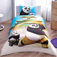 Детское подростковое постельное белье TAC Disney Kung Fu Panda Movie Ранфорс
