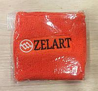 Оранжевый качественный напульсник на руку от Zelart.