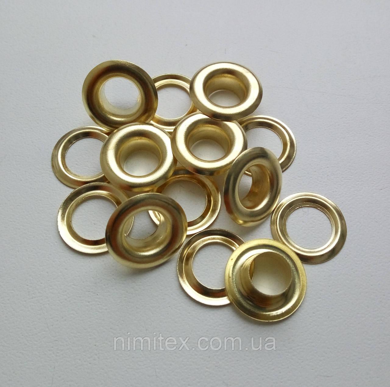 Люверс №28 - 13 мм (з шайбою) золото