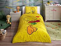 Детское подростковое постельное белье TAC Disney Tweety Hearts Ранфорс