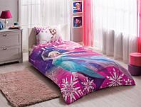 Детское подростковое постельное белье TAC Disney Frozen Elsa Ранфорс