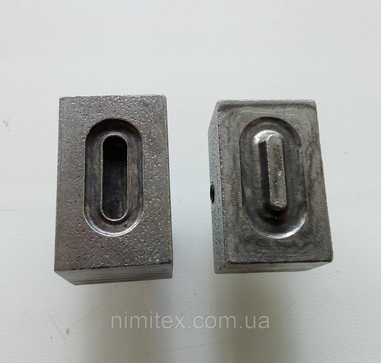 Матрица на люверс овальный 15 мм