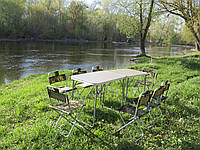Мебель для пикника. Набор двойной (1+1). Размер 1540 х 490 мм. Складная мебель для кемпинга. Столик и стулья.