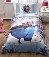 Детское подростковое постельное белье TAC Disney Frozen My Hero Ранфорс