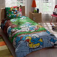 Детское подростковое постельное белье TAC Disney Sirinler Picnic Ранфорс