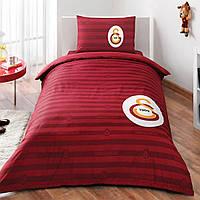 Детское подростковое постельное белье TAC Galatasaray Elegant Ранфорс
