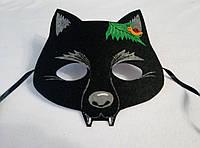 Карнавальная маска Волк-черный. Детские сюжетно ролевые игры.