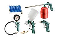 Набор пневмоинструмента Metabo LPZ 7 Set  (продувочный пистолет, пост. Для накачки шин, краскопульт, пильный п