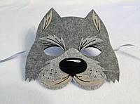 Карнавальная маска Волк-серый. Детские сюжетно ролевые игры.
