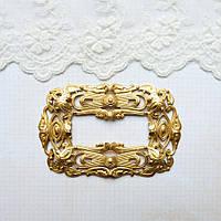 Латунный штамп, рамка-оправа, 80*52 мм (42*15 мм)