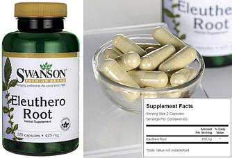 Swanson, Элеутерококк, 425 мг, 120 капсул