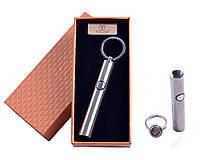 Спиральная USB зажигалка-брелок №4837 Silver, полезный гаджет, модный и стильный аксессуар курильщика