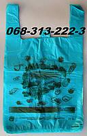 """""""Good luck"""" 30х50см супер прочные усиленные полиэтиленовые пакеты майка из первички оптом"""