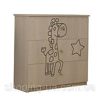 Детский комод гравированный Жираф BABY BOO