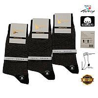 Носки мужские хлопок Premium черные 100016
