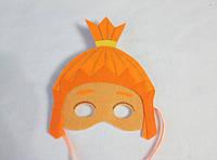 Карнавальная маска Симка фиксики. Детские сюжетно ролевые игры.