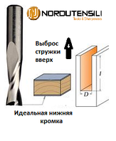Фреза спіральна твердосплавна верхній рез, D = 18 мм; I = 52 мм; Хвостовик = 18 мм. NORDUTENSILI (Італія)