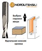 Фреза спиральная твердосплавная верхний рез, D = 3 мм; I = 12 мм; Хвостовик = 6 мм. NORDUTENSILI (Италия)