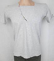 Стильная серая футболка от итальянского бренда