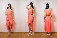 Платье «Каприка» из легкого шифона со шлейфом. Разные цвета