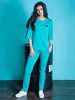 Стильный женский спортивный костюм Магнит голубой
