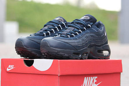 Кроссовки мужские  Nike Air Max 95 синие, фото 2