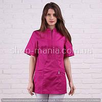 Женская медицинская блуза малинового цвета SM 1007 Мико