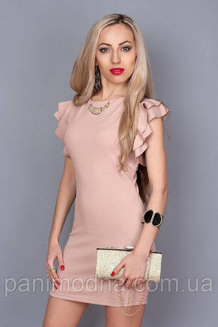 """Нежно розовое нарядное платье с красивой спинкой - """"Джой"""" код 241"""