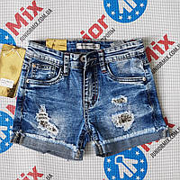 Модные подростковые джинсовые шорты на девочку  Hello Coccinelli