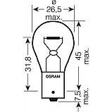 Лампы накаливания OSRAM ORIGINAL LINE P21W (2 ШТ), фото 3