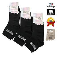 Носки женские хлопок короткие черные Ж-100001