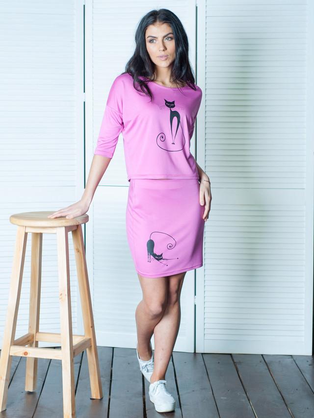 Летний молодежный женский костюм Кэт ультра-розовый  продажа 2a1f66de53b36