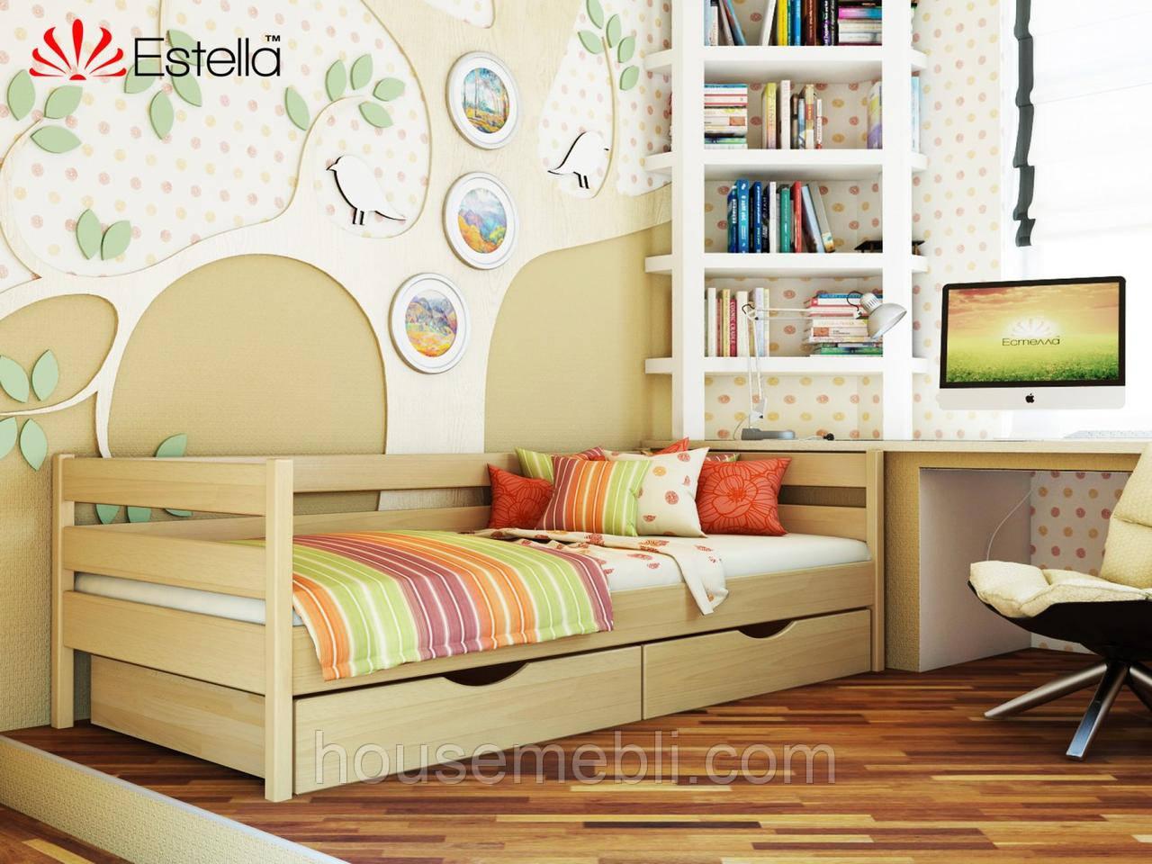 Кровать НОТА (массив) 90*200