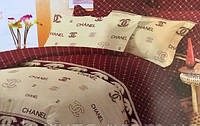 Постельный комплект с брендовым логотипом из ранфорса: полуторный, двуспальный, евро, семейный