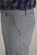 Брюки мужские котоновые Vip Bonis cеро-голубые , фото 3