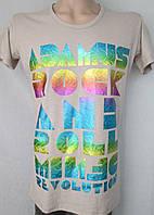 Мужская футболка с надписю рок-тема. Италия