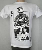 Тематическая белая футболка с рисунком. Италия