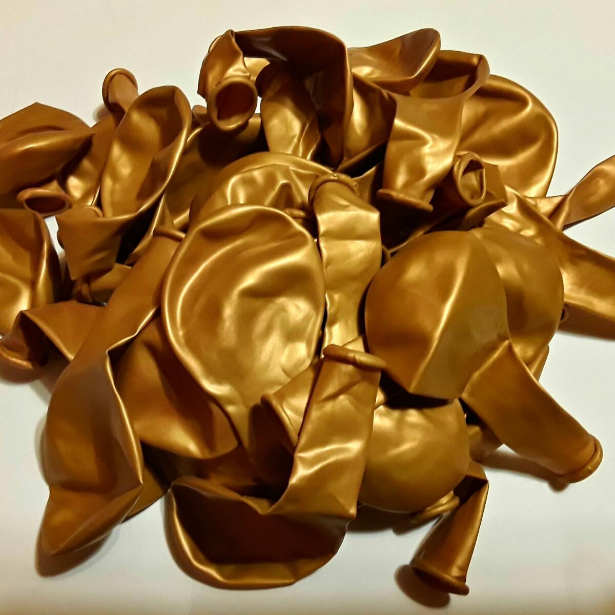 Золото металік. Латексні кульки 26 СМ в уп. 10 шт.