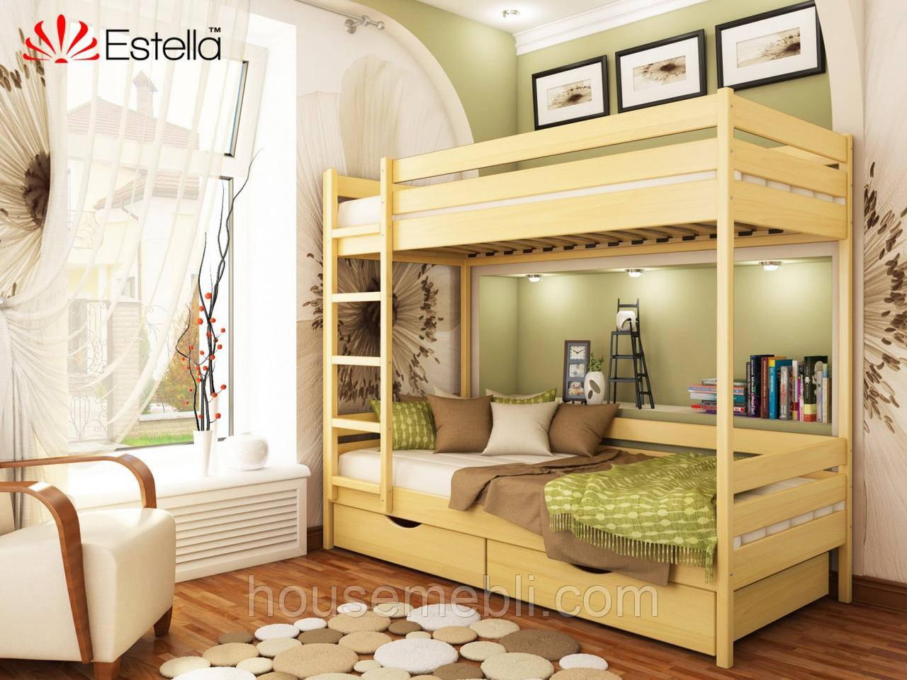 Кровать ДУЕТ (массив) 80*190