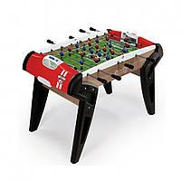 Деревянный полупрофессиональный футбольный складной стол Evolution №1  Smoby - Франция - красного цвета