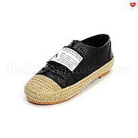 Женские туфли низкий ход плетение