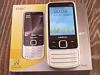Мобильный телефон Nokia 6700+ Серебро. Экран 2.8'' GPRS копия Нокия 6700 MicroUSB