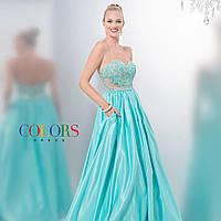 Выпускное платье с корсетом и пышной юбкой разные цвета
