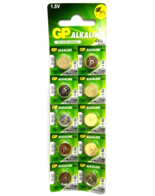 Батарейка часовая GP AG10 alkaline (10 шт/лист) 1.5V
